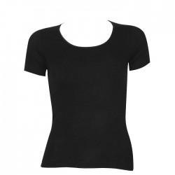 Φανελάκι Γυναικείο Άσπρο Και Μαύρο Κοντό Μανίκι Micromontal