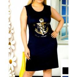 Φόρεμα Ωμάκι Άγκυρα Μεγάλα Μεγέθη