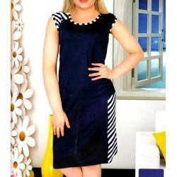 Γυναικείο Φορεματάκι Με Ωμάκι Κλασικό Σε Μεγάλα Μεγέθη