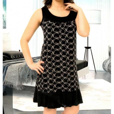 Γυναικείο Φορεματάκι Με Φαρδύ Ωμάκι Εμπριμέ Σε Μεγάλα Μεγέθη