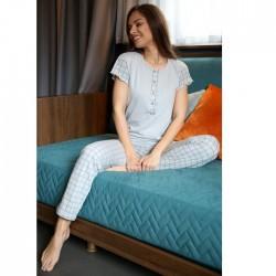Καλοκαιρινή Γυναικεία Πυτζάμα Με Κουμπιά Θηλασμού Bozer 2114