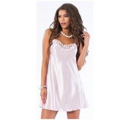 Νυχτικό Σατέν Άσπρο Με Δαντέλα Jumelles 4155