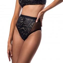 Μαγιό Bikini Slip Ψηλόμεσο Από Δαντέλα 'BLACK LACE' Bluepoint 2020