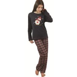 Χειμερινή Εφηβική Πυτζάμα Για Κορίτσι Με Καρό Παντελόνι Galaxy 125