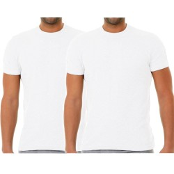 Apple Ανδρικά Βαμβακερά Κοντομάνικα Φανελάκια T-Shirt  2 Τεμ Λευκό
