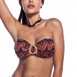 "Μαγιό Bikini Top Strapless Πλεκτό ""Indian Nights"" Cup B Bluepoint 2021"