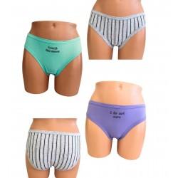 Γυναικείο Slip Bikini Βαμβακερό 3 Τεμαχίων Χωρίς Λάστιχα Ider
