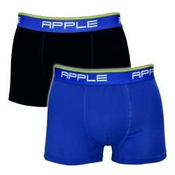 Apple Ανδρικά Boxer 2 Τεμαχίων Βαμβακερά Μαύρο & Γαλάζιο 0112934