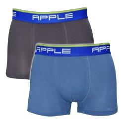Apple Ανδρικά Boxer 2 Τεμαχίων Βαμβακερά Γκρι & Ανθρακή 0112934