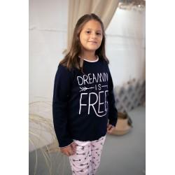 Χειμερινό Κοριτσίστικο Παιδικό/Εφηβικό Πυτζαμάκι Με Ανεξίτηλο Τύπωμα