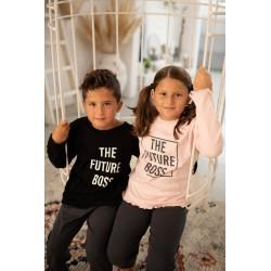 """Κοριτσίστικη Παιδική Και Εφηβική Πυτζάμα """"Future Boss"""" Happy Family"""